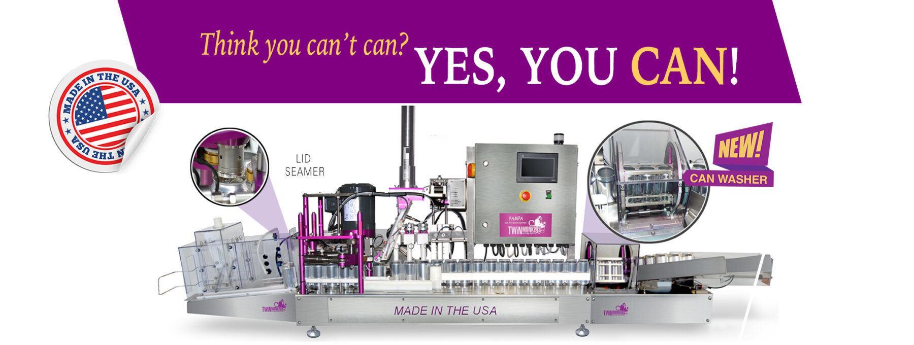 Yampa-Self Standing Automated Beverage Canning Machine