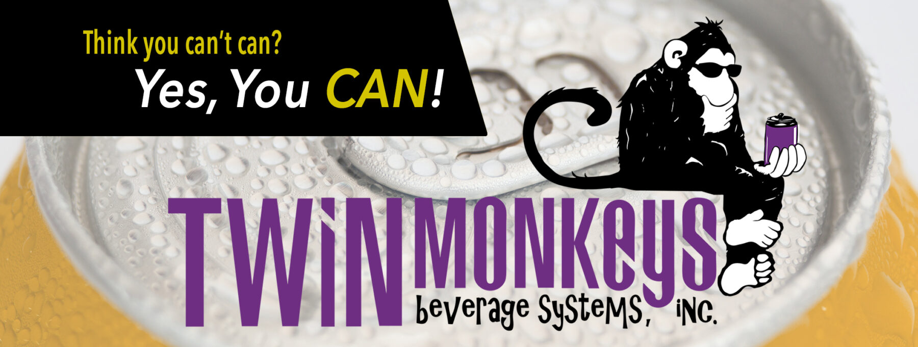 Twin Monkeys Beverage Canning Systems Intro Image
