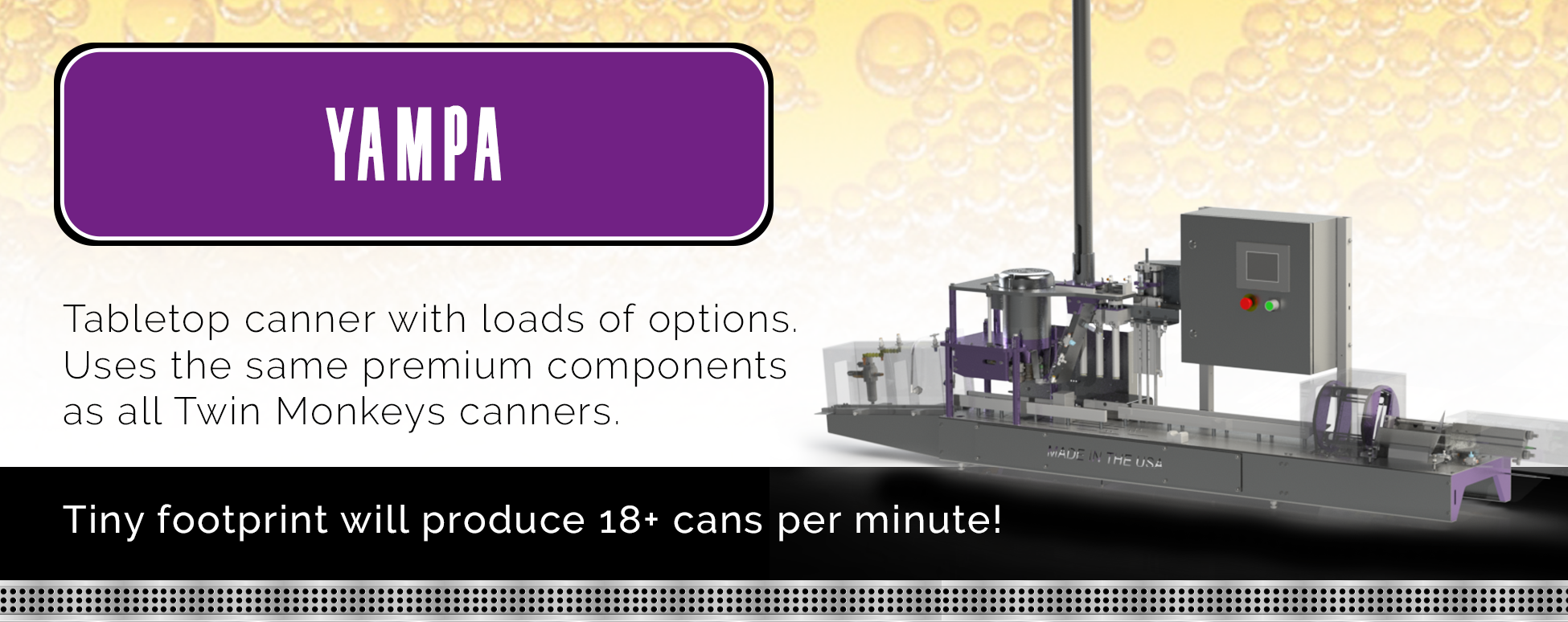 Yampa Tabletop Canning system
